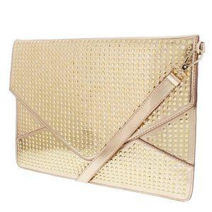 🆕 Melie Bianco Janelle Envelope Clutch Gold